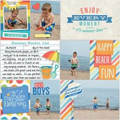 Image result for Photo Play Summer Bucket List layout bucket
