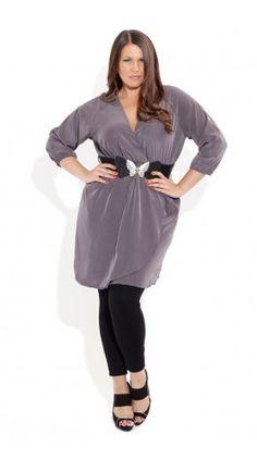 cute gray tunic with nice drape
