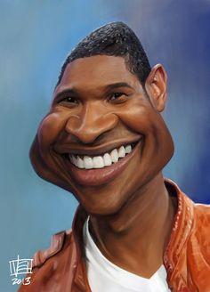 Caricatura de Usher.