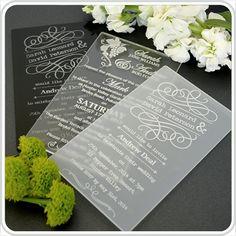 NEW!!! ACRYLIC WEDDING INVITES