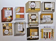 No one makes full use of a 6x6 paper pad like Kristie.  She has a previous tutorial link, along with close ups of each of these cards.
