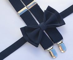fa31061ffdb3 Navy Ring Bearer Outfit -- Navy Suspenders & Navy Bow Tie. Shop more
