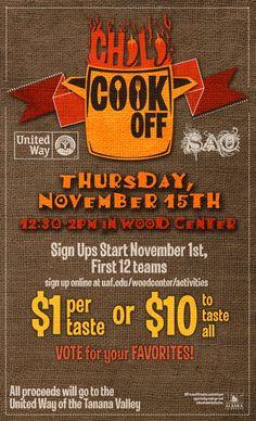 November chili cookoff fundraiser