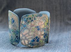 Croma Kracle Polymer Clay Bracelet, Polymer Clay Art, Betsy Baker, Clay Texture, Clay Tutorials, Metal Clay, Jewelry Art, Diy Jewellery, Jewelry Making