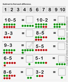 Learn to Subtract Worksheet4