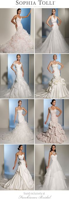 Sophia Tolli's dreamy Spring 2012 Collection available at Facchianos Bridal in Tulsa.