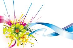 Colorful flower vector graphic downloads