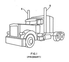 peterbilt semi trucks coloring pages | Peterbilt Semi Truck Coloring Pages | Crafty Things & DIY ...
