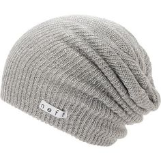 Warm up your wardrobe with a new Neff Girls Daily Sparkle grey beanie that works with any outfit. Instantly warm your head in soft comfort thanks to the ribbed knit construction in the grey colorway, sl