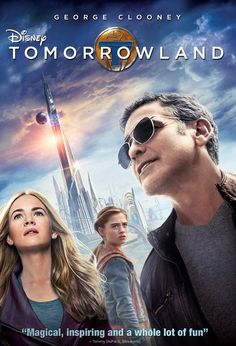 TOMORROWLAND (2015): Bound by a shared destiny, a teen bursting with scientific curiosity and a former boy-genius inventor embark on a mission to unearth the secrets of a place somewhere in time and space that exists in their collective memory.
