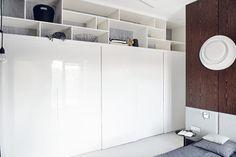 13 Apartment in Gdańsk//Formativ. Divider, Interior Design, Storage, Room, Poland, Furniture, Cabinets, Detail, Home Decor