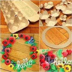 Easy Anzac Day craft. Make an Anzac Day wreath from egg cartons! Find great activities for the kids.