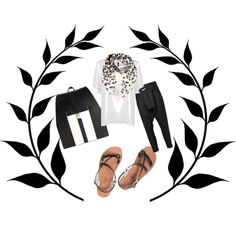"""black and white"" by the-meraki-company on Polyvore"