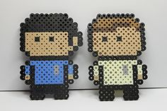 Perler beads Spock and Kirk