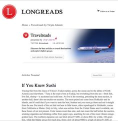 Longreads - leadership section like virgin travelreads http://longreads.com/travelreads/