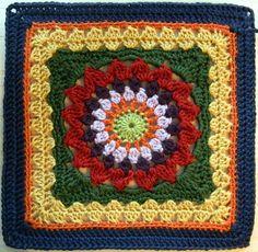 Kata Square Motif By Penny Davidson - Free Crochet Pattern - (ravelry)