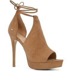Aldo Aldo Tilley Platform Peeptoe Shoe (130 AUD) ❤ liked on Polyvore featuring shoes, aldo shoes, high heel shoes, cut out platform shoes, peep-toe shoes and cut out shoes