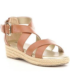 d2a7395f8d0 MICHAEL Michael Kors Girls Margie Raina Leather Criss Cross Banded Sandal   Dillards Criss Cross