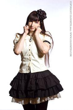 cute ruffle blouse Lolita Fashion, Gothic Fashion, Unique Plus Size Clothing, Lolita Style, Gothic Outfits, Cotton Blouses, Plus Size Outfits, Cookie, Ruffle Blouse