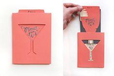 cocktail hour invite idea by Martha Stewart