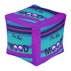 IN THE MOOD Fun Pouf-Purple/Pink/Aqua/Blue Pouf - fun gifts funny diy customize personal