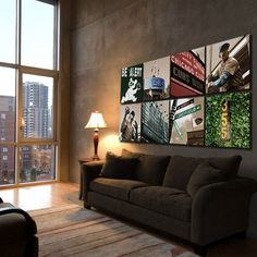 """Ultimate Cubs Collection : 8 pc. Wrigley Field Canvas Set (20"""" x 20"""") $300 @Leslie Mallman Cubs"""