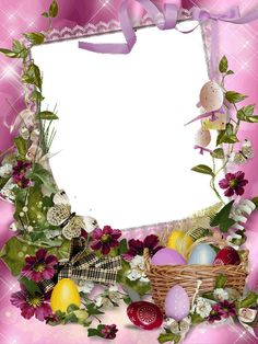 This High Quality Frames: Children Frames Png, Easter Backdrops, Picture Borders, Family Photo Frames, Frame Background, Borders And Frames, Easter Holidays, Flower Frame, Watercolor Flowers