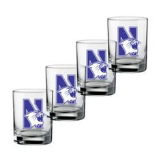 Northwestern+Wildcats+4-pc.+Rocks+Glass+Set