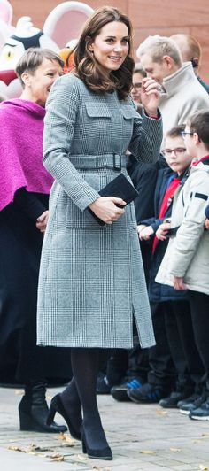 The Duchess of Cambridge just wore the most amazing checked coat—click here to shop it and see our edit of the best checked coats.
