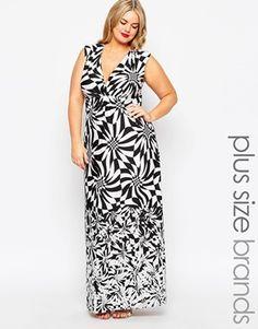 Gemma Collins Wrap Front Animal Print Maxi Dress
