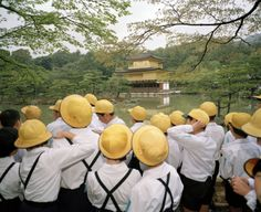 School uniforms from around the world: The Golden Temple, Kyoto, Japan, 1993. Photograph by Martin Parr/Magnum.
