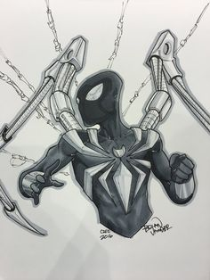 Saturday commission at of Iron Spider-Man Spiderman Sketches, Avengers Drawings, Drawing Superheroes, Spider Drawing, Spider Art, Iron Spider, Comic Books Art, Comic Art, Marvel Art