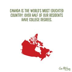 Are you surprised by this (source: World Population Review) Facts About Canada, Rv Videos, Rv Parks And Campgrounds, Rv Rental, Rv Dealers, Words, Horse