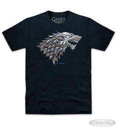 Game of Thrones T-Shirt House Stark Wappen Hier bei www.closeup.de