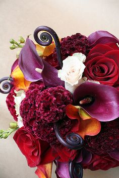 Love the rich colors of this #bouquet