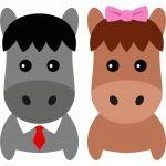 cute couple horse