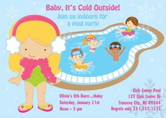 Indoor Pool Party Ideas pool party invitation summer party water party invite Winter Pool Party Invitation Indoor Pool Party Birthday Invitation Printable For Girls