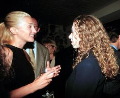Carolyn Bessette Kennedy with Chelsea Clinton.