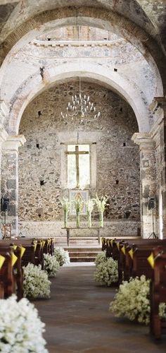 Ideas Wedding Church Alter Flowers Aisle Decorations For 2019 Wedding Ceremony Ideas, Wedding Venues, Church Aisle Decorations Wedding, Church Wedding Ceremony, Church Weddings, Alter Flowers, Church Flowers, Aisle Flowers, Perfect Wedding