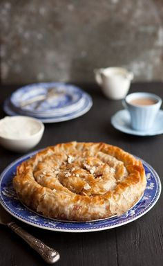 apple phyllo pie with maple and pecans