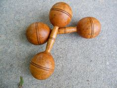 Wooden Dumbbell / 1 lb / Vintage Exercise by assemblage333 on Etsy, $38.00
