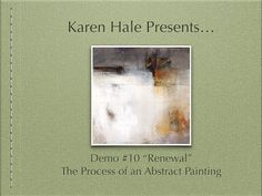 "Acrylic Abstract Painting Demonstration - Demo #7 ""Hazy Shades"" - YouTube"