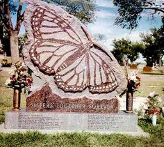 butterfly headstone two sisters Cemetery Monuments, Cemetery Headstones, Old Cemeteries, Graveyards, Pet Cemetery, Cemetery Statues, Tombstone Epitaphs, Unusual Headstones, Funeral Planning