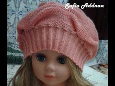 knitting a bonnet - tricoter un bonnet - بوني - YouTube