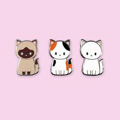 Cute Kitties Enamel Pin by cynthiatizshop on Etsy
