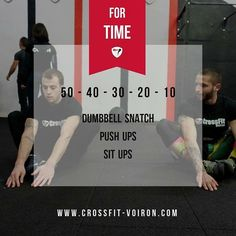 #training #wod #crossfit #crossfitvoiron #voiron #dumbbells #situps #pushup