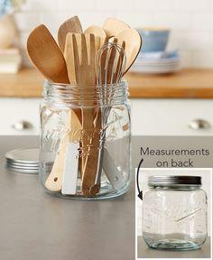 Baking Pans, Bakeware & Cooking Supplies|LTD Commodities Cooking Utensil Holder, Best Cooking Utensils, Utensil Caddy, Kitchen Utensil Holder, Large Mason Jars, Cooking Supplies, Refinish Kitchen Cabinets, Ball Jars, Kitchen Essentials