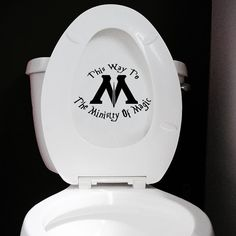 Ministry Of Magic Toilet Sticker - Funny Harry Potter Toilet Decal or Bathroom Wall Sticker on Etsy, £6.25