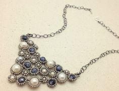 Swarovski Pearl and Snowflake Obsidian Hand by RestlessArtMpls, $60.00