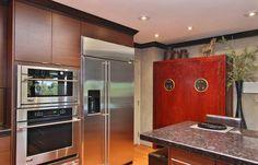 Built in fridge, wall oven and micro.  Columbia Cabinets - Contemporary Design Portfolio